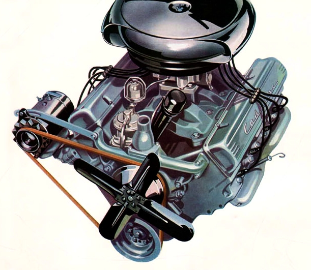 The 331 cubic inch Cadillac engine was, along with Oldsmobile, the first modern V8 production engine