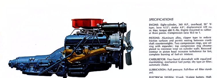 The superb, lightweight 429 cubic inch V8 introduced in the 1964 Cadillac range.