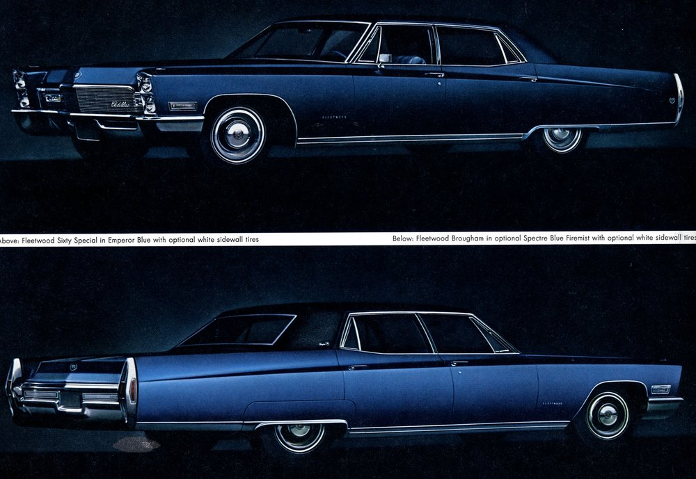For pampering backseat passengers even more than a standard Cadillac - 1967 long wheelbase Fleetwood 60 Special, or Fleetwood Brougham.