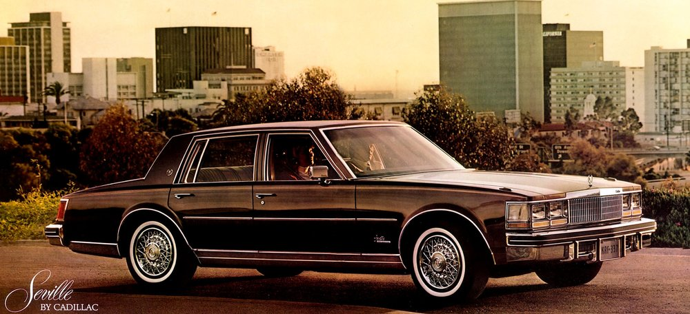 The boxy, stumpy looking 1976 Seville offered Cadillac luxury in a smaller package