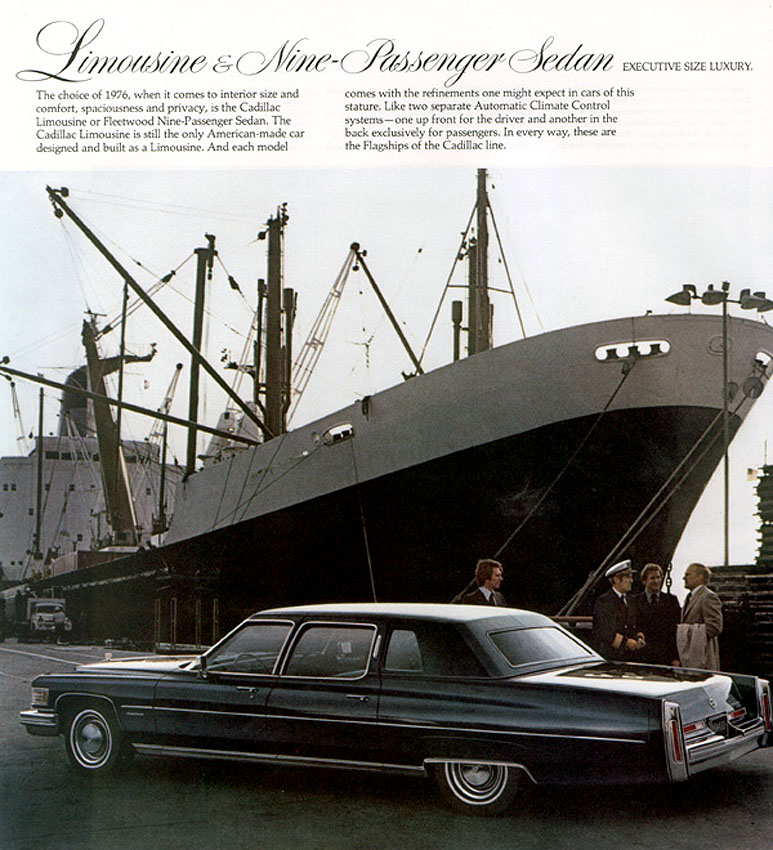 Cadillac's ship had come in by 1973 - gas guzzling super-sized luxury soon to become anti-social