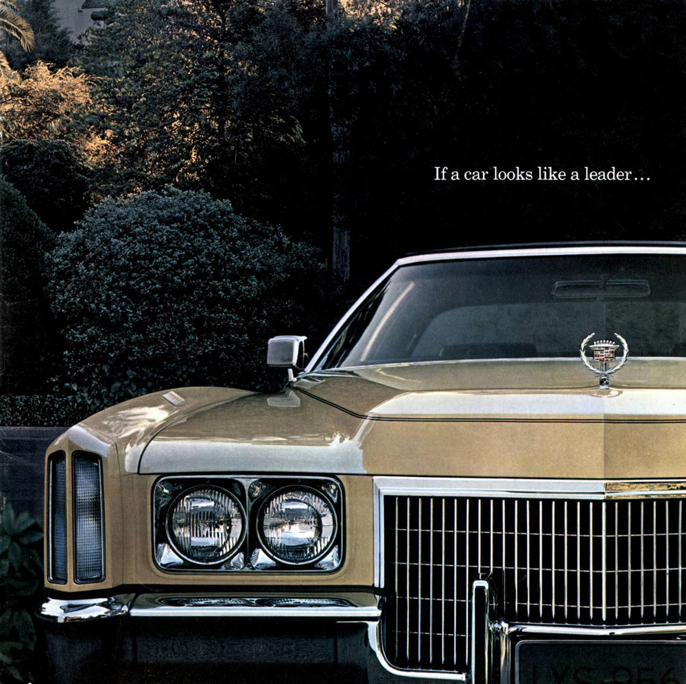 Early '70s Eldorado - 5.5 metres and 8.2 liters of the ultimate in conspicuous consumption.