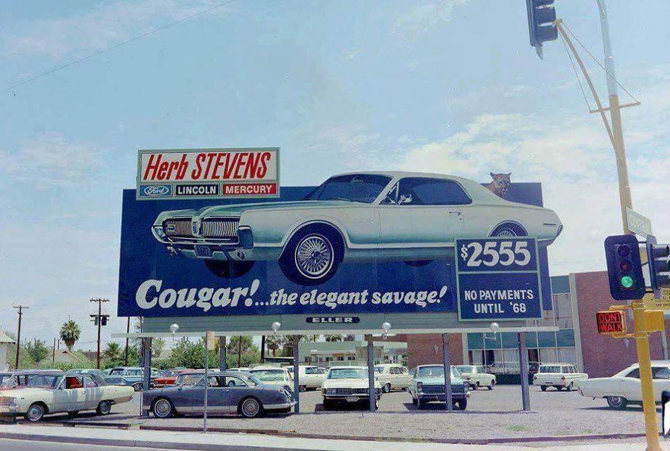 1967 Cougar billboard - the elegant savage!