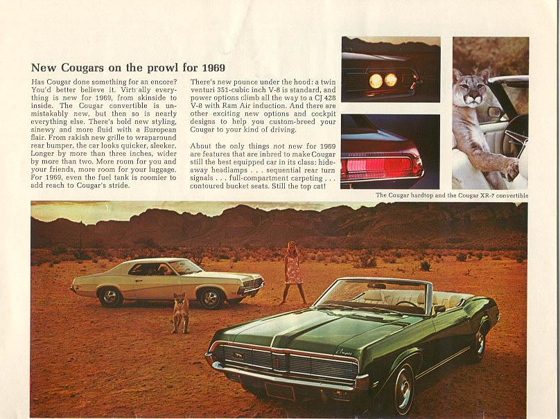 1969 Mercury Cougars - on the prowl...