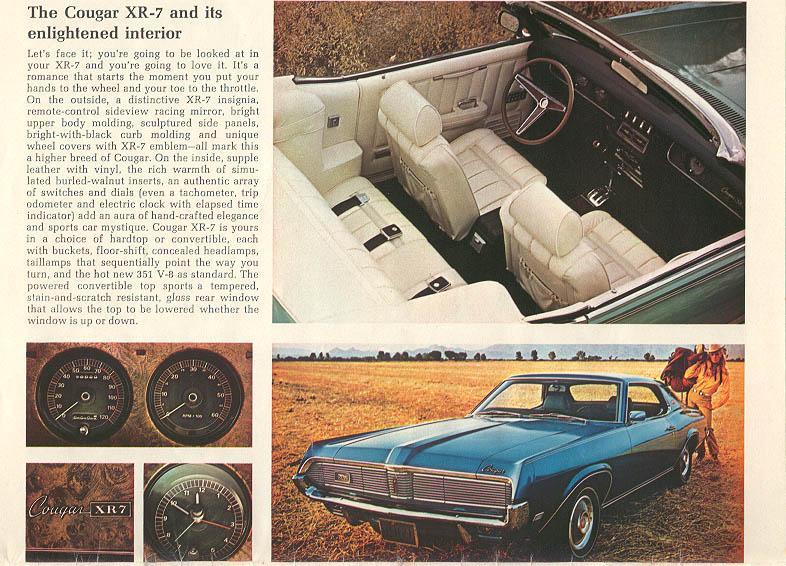 1970 Mercury Cougar - enlightened interior