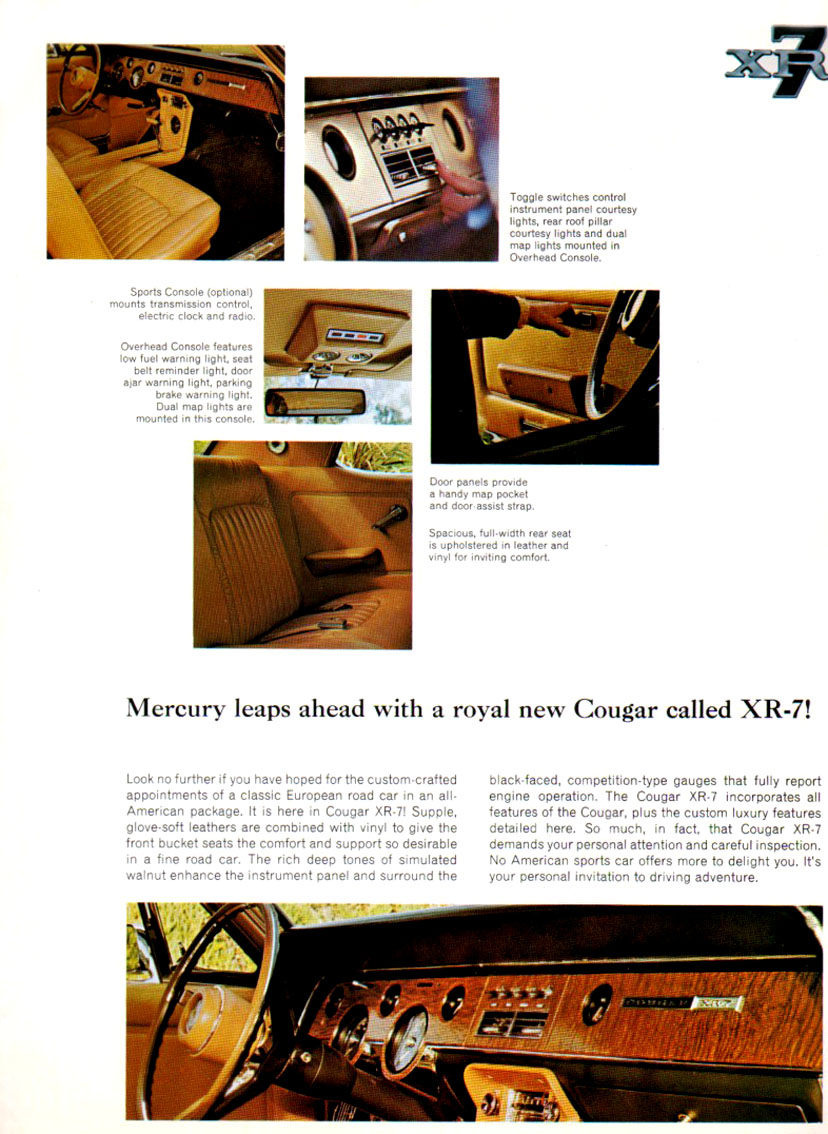 1967 Cougar XR-7 - invitation to driving adventure