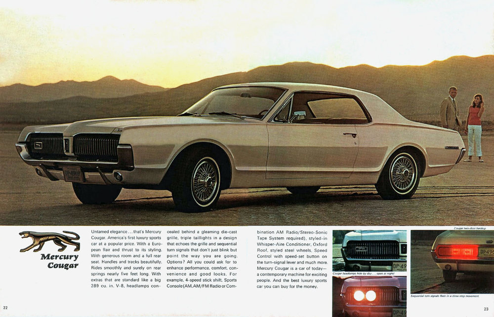 1967 Cougar - 'America's luxury sports car at a popular price'