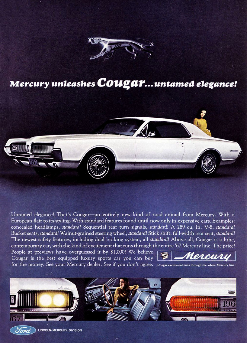 1967 Mercury Cougar - untamed elegance