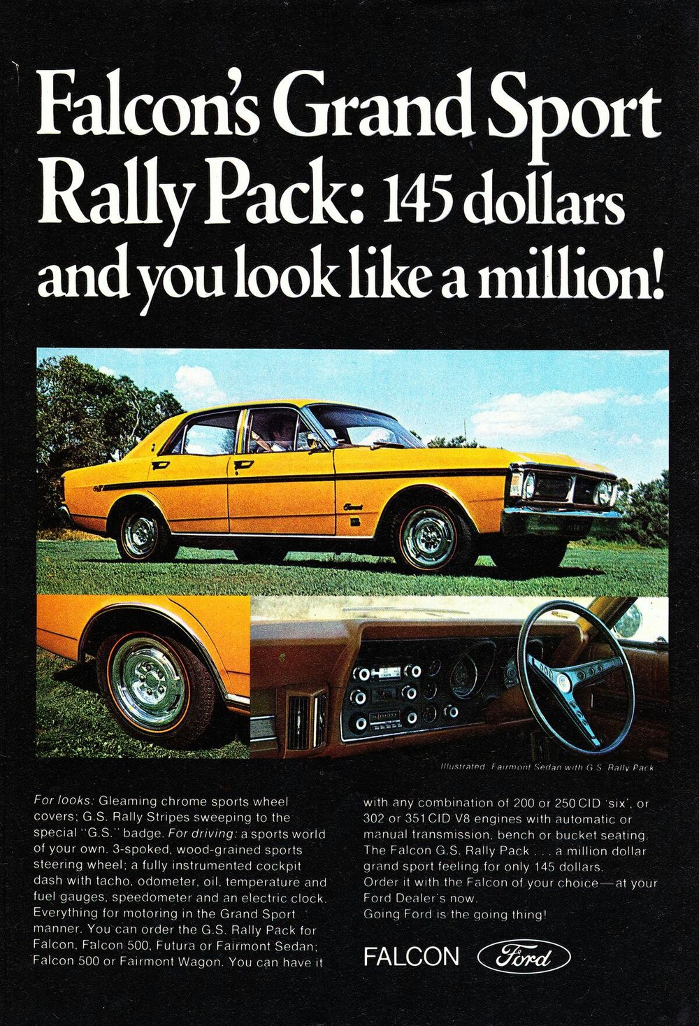 Ford Australia Tunnel Ram Engines 1970 Xy Falcon Grand Sport Rally Pack