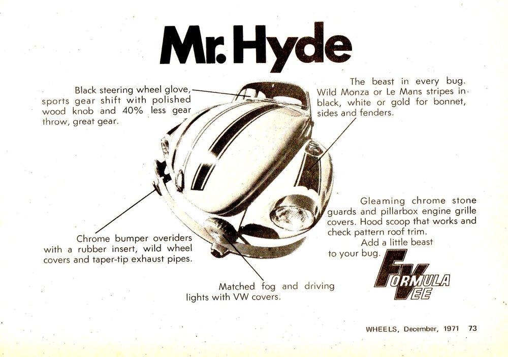1971 VW Beetle - Formula Vee