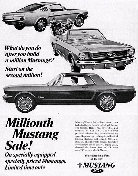 1966 Mustang millionth sale