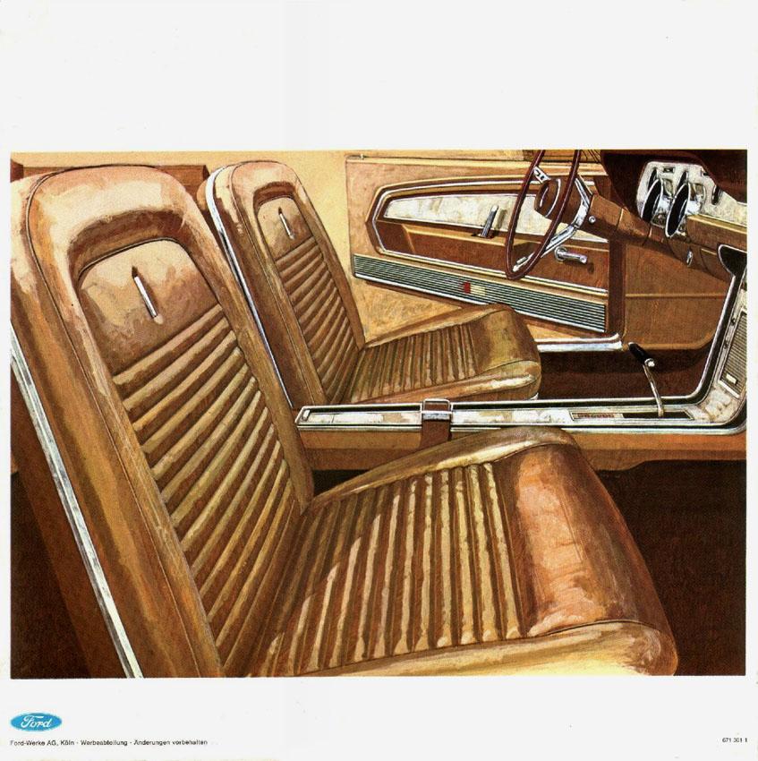 1967 Mustang deluxe interior