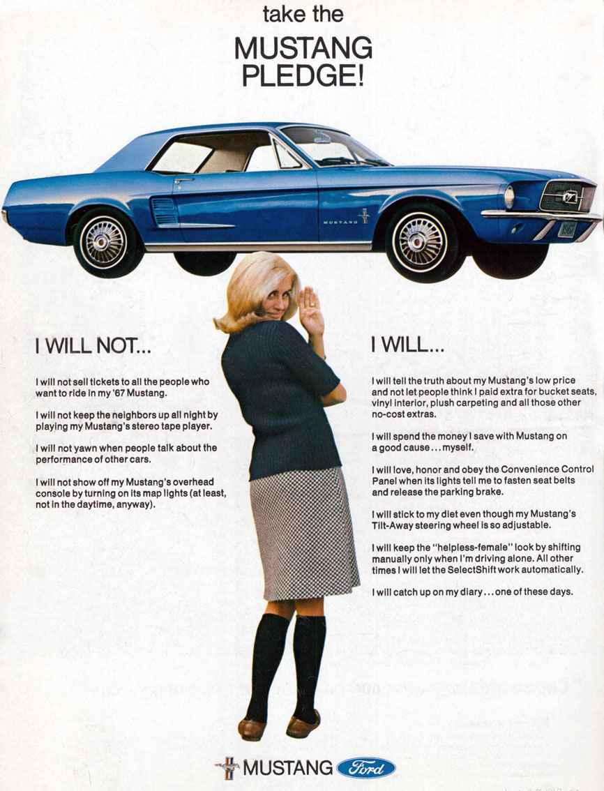 1967 - take the Mustang pledge