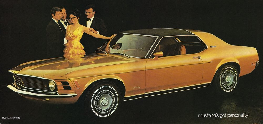 1970 - Mustang's got personality!