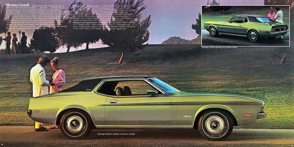 1972 Mustang Grande in medium ivy bronze metallic