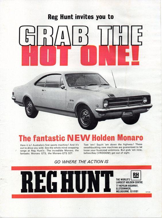 New HK Monaro available from Reg Hunt