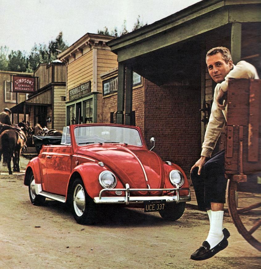 Paul Newman - mid 1960s VW print ad