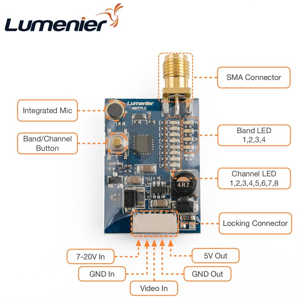 200mW 5.8 GHz Mini FPV Transmitter 32*22*9mm