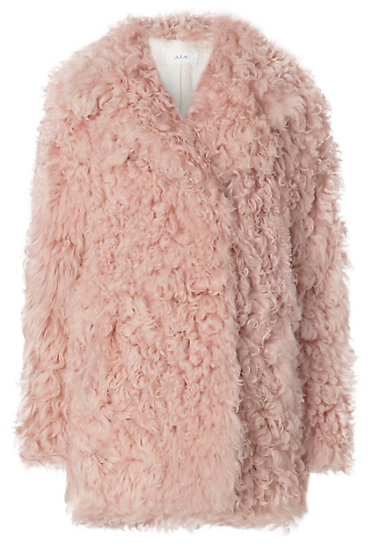 A.L.C. Curly Hair Shearling Lamb Coat, $2,195; Image via Intermixonline.com