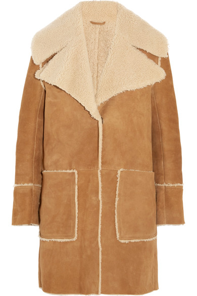 M.I.H Jeans Fairport Shearling Coat, $1,995; Image via  Matchesfashion.com