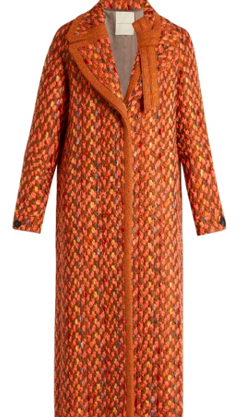 Marco De Vicenzo Wool-blend Tweed coat, $2,083; Image via Matchesfashion.com