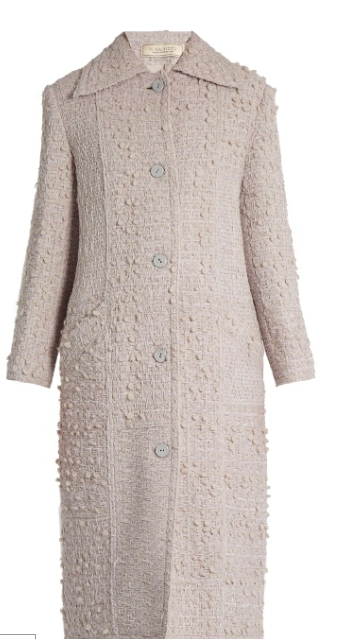 Nina Ricci Point Collar Wool-Blend Tweed Coat, $2, 676; Image via Matchesfashion.com