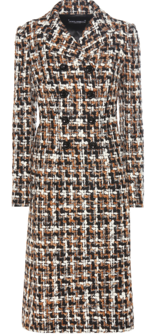 Dolce & Gabbana Wool and Cotton Blend Bouclé Coat, € 1.950; Image via Mytheresa.com