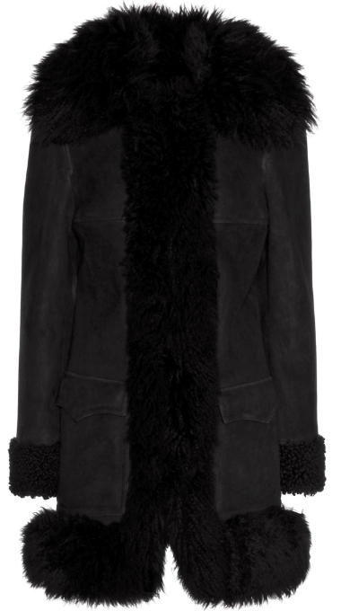Saint Laurent Leather Coat, € 3.990; Image via Mytheresa.com