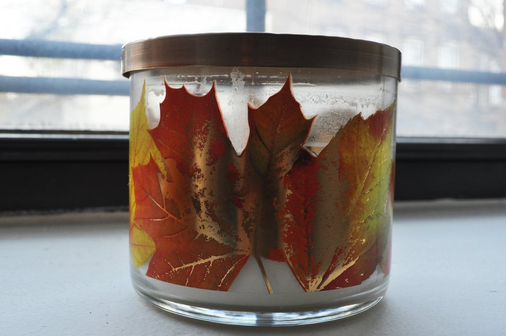 Bath and Body Works 3-Wick Candle, Leaves
