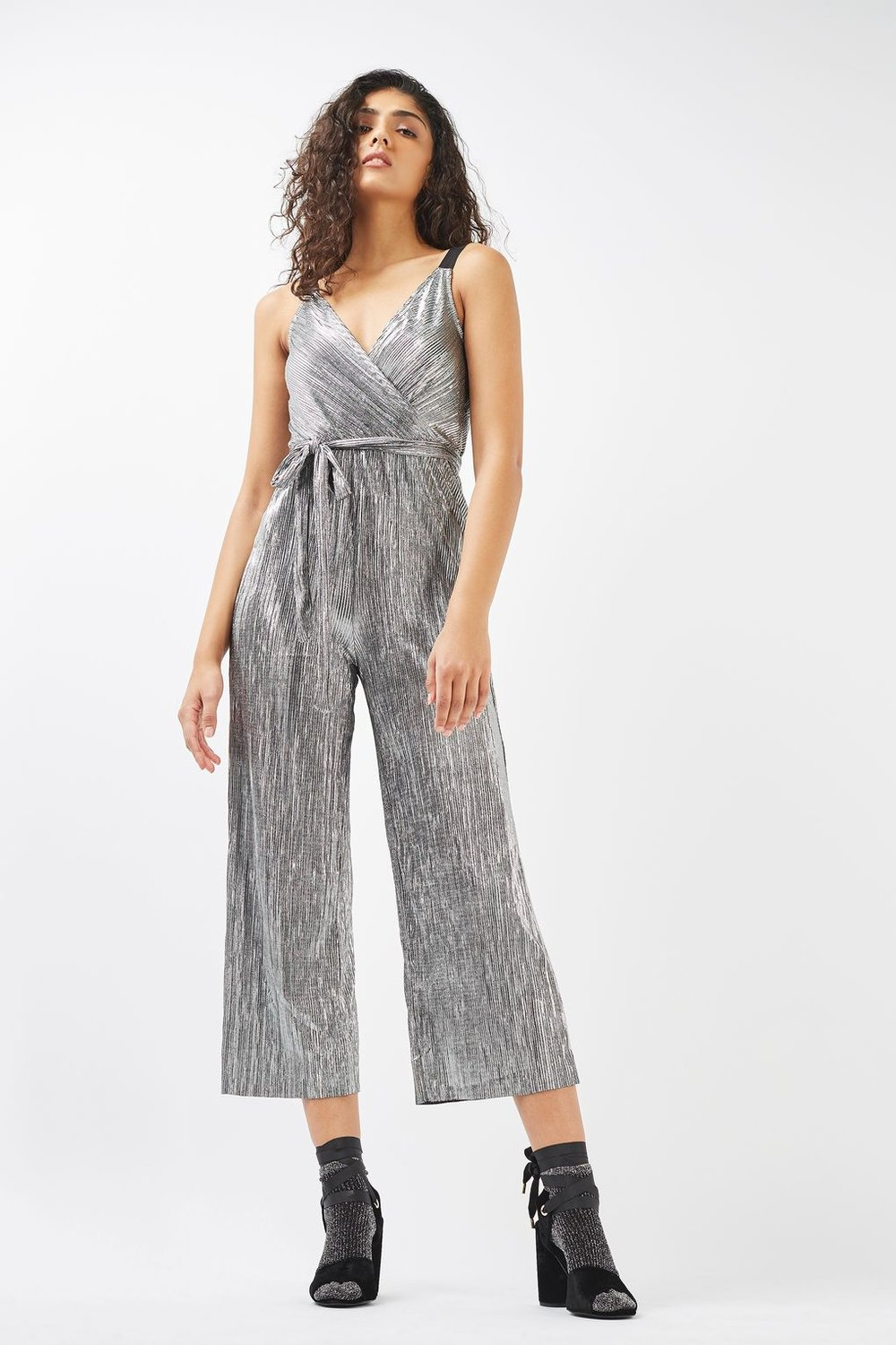 Photo via Topshop.com   Topshop, Wrap Plisse Jumpsuit; $35
