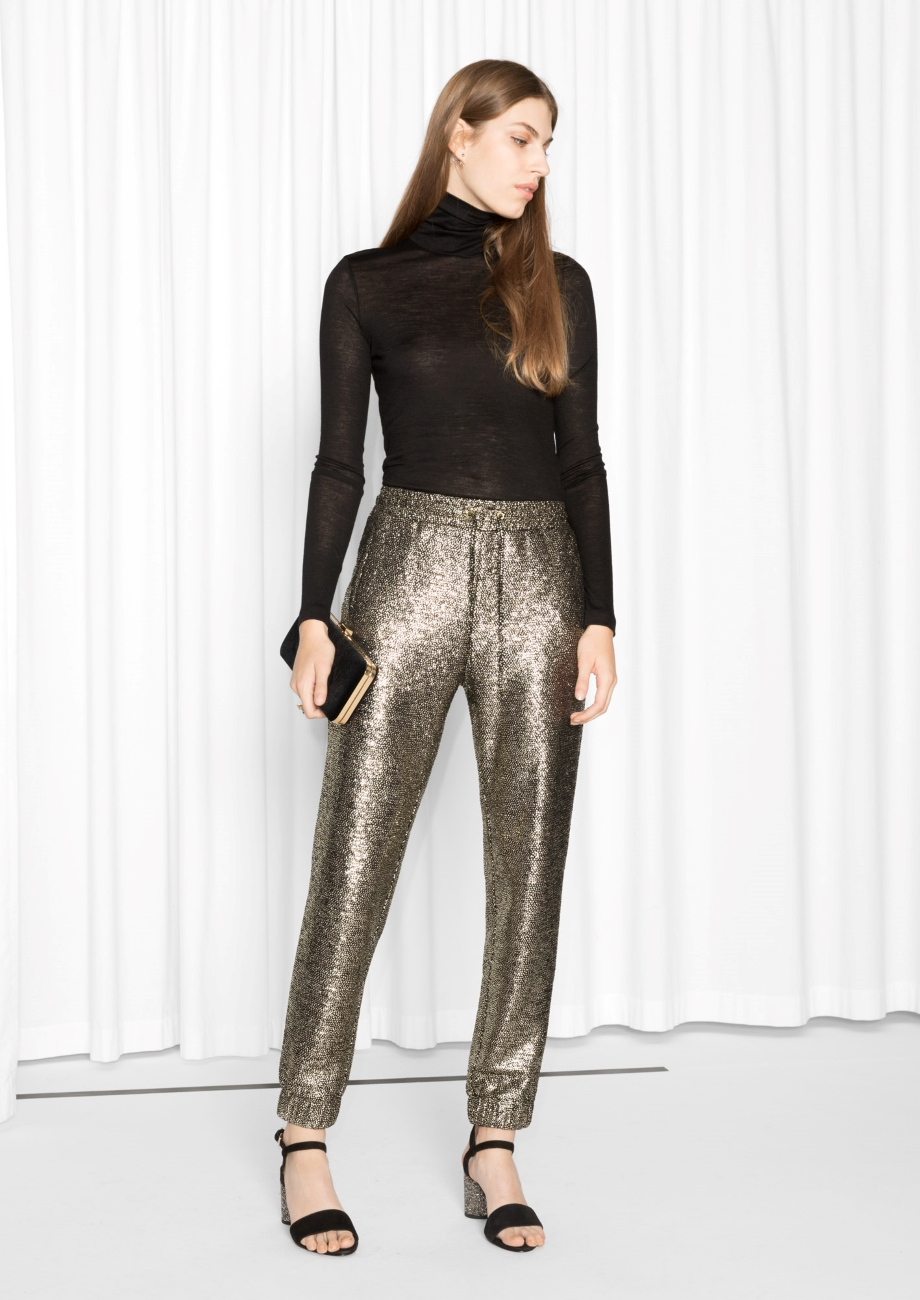 Photo via Stories.com   & Other Stories, Golden Hits Trousers; $55