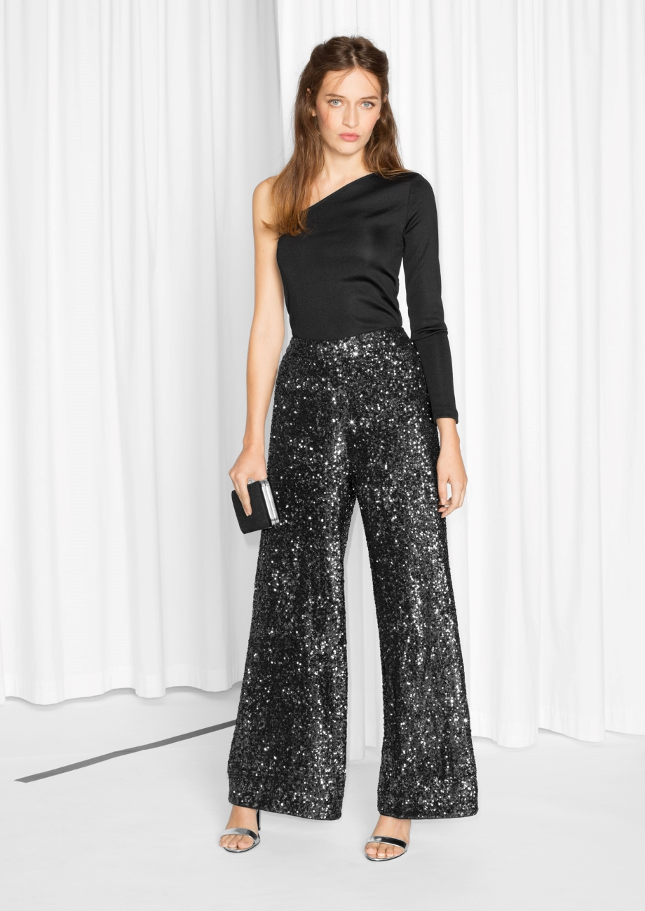 Photo via Stories.com   & Other Stories, Sequined Trousers; $135