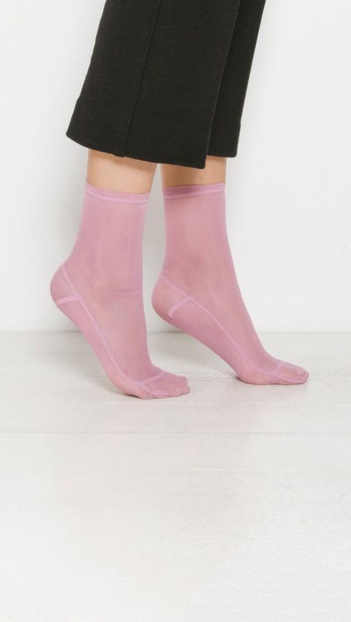 Darner Pink Mesh Socks, $36;  Thedreslyn.com