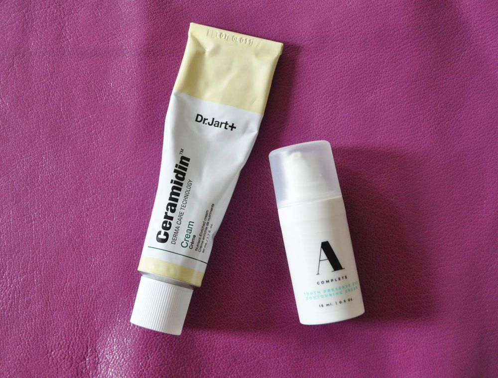 Dr. Jart Ceramidin Cream, $48 ,  A Complete Youth Preserve Eye Contour Cream, $46