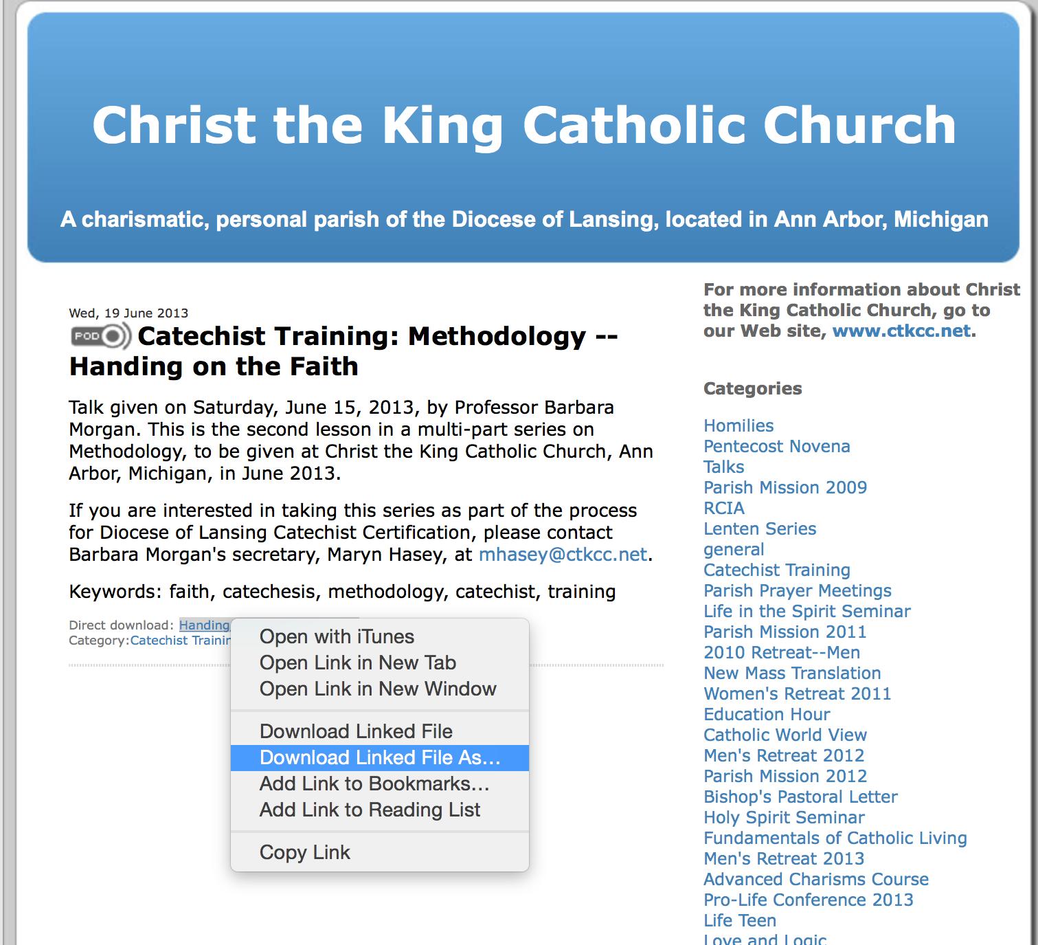 Barbara Morgans Catechist Training Podcasts Edmund Mitchell