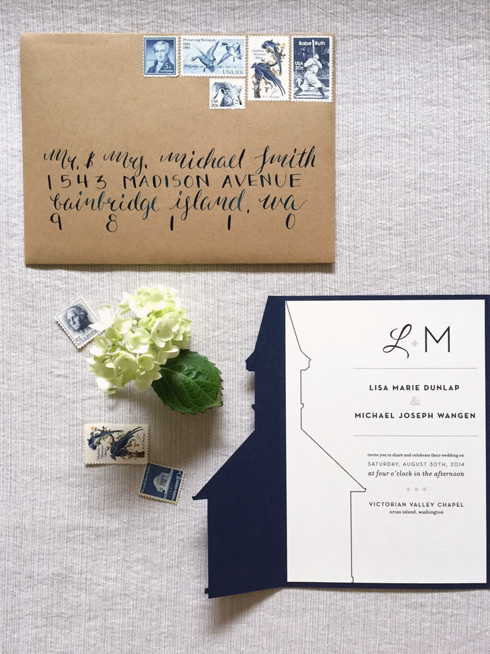 Northwest Nuptials Wedding Invitation