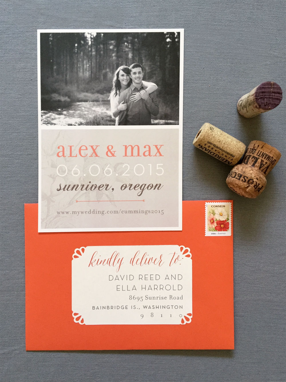 Oregon Classic Wedding Save-the-Date