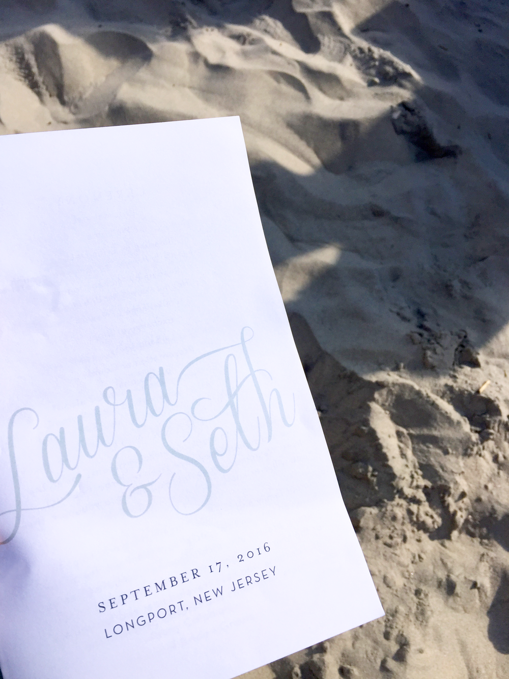Classic Beach Wedding Program