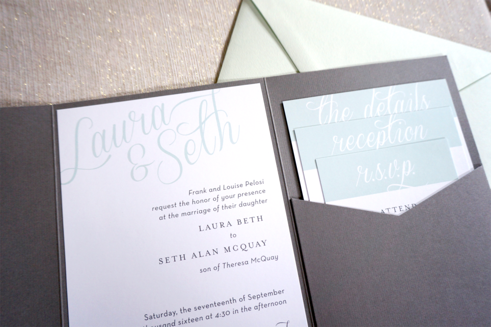 Classic Beach Wedding Invitation Suite