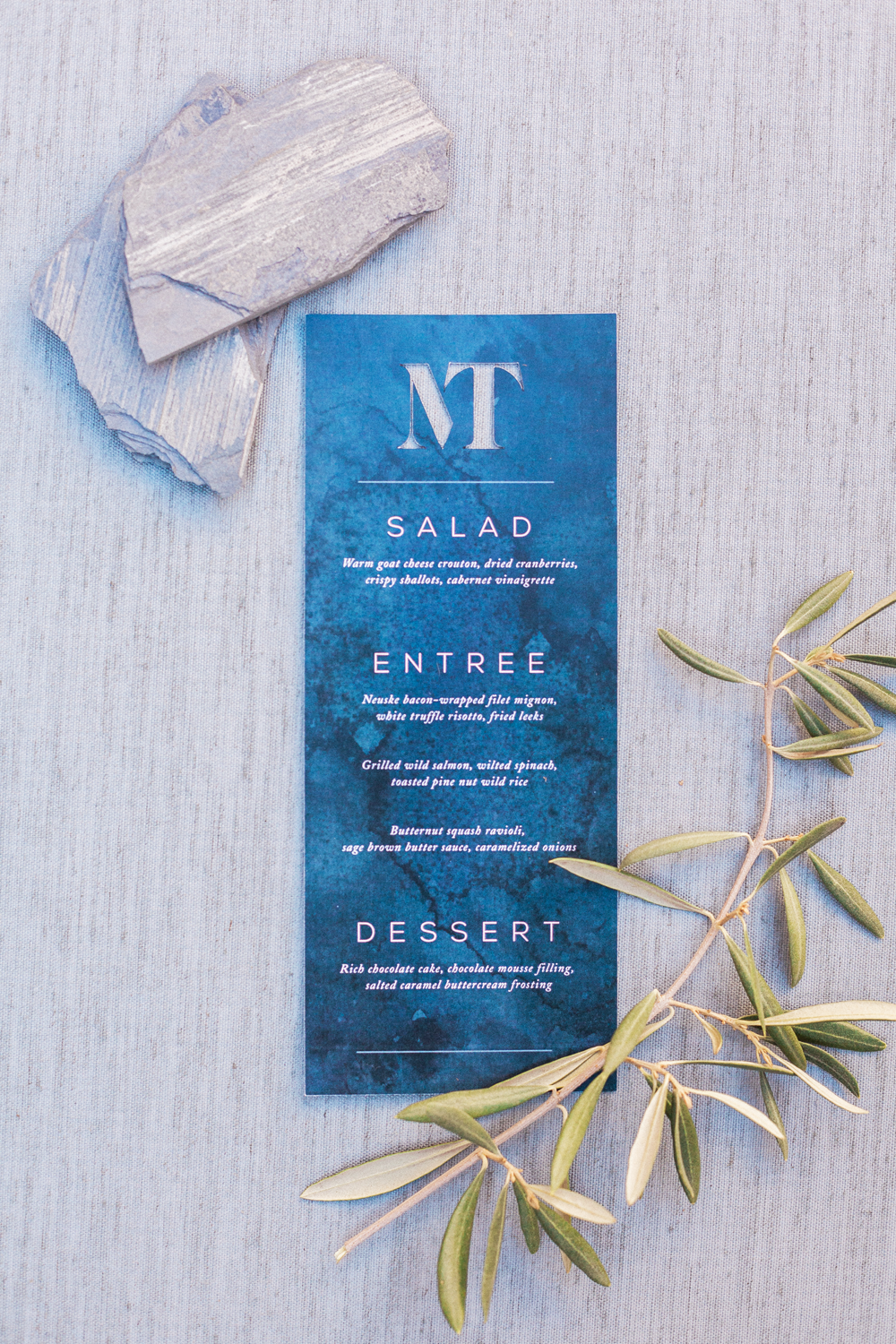 Die Cut Moody Watercolor Menu
