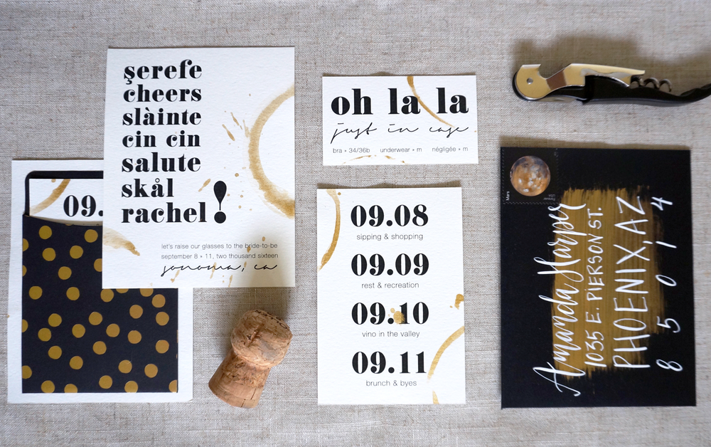 Bachelorette Invitation Suite