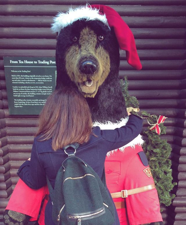 Me and Mountie Bear 😁🇨🇦🎄