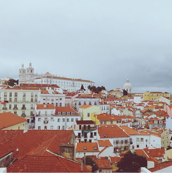 Miradouro das Portas do Sol is one of the view points where you get to see Lisbon.
