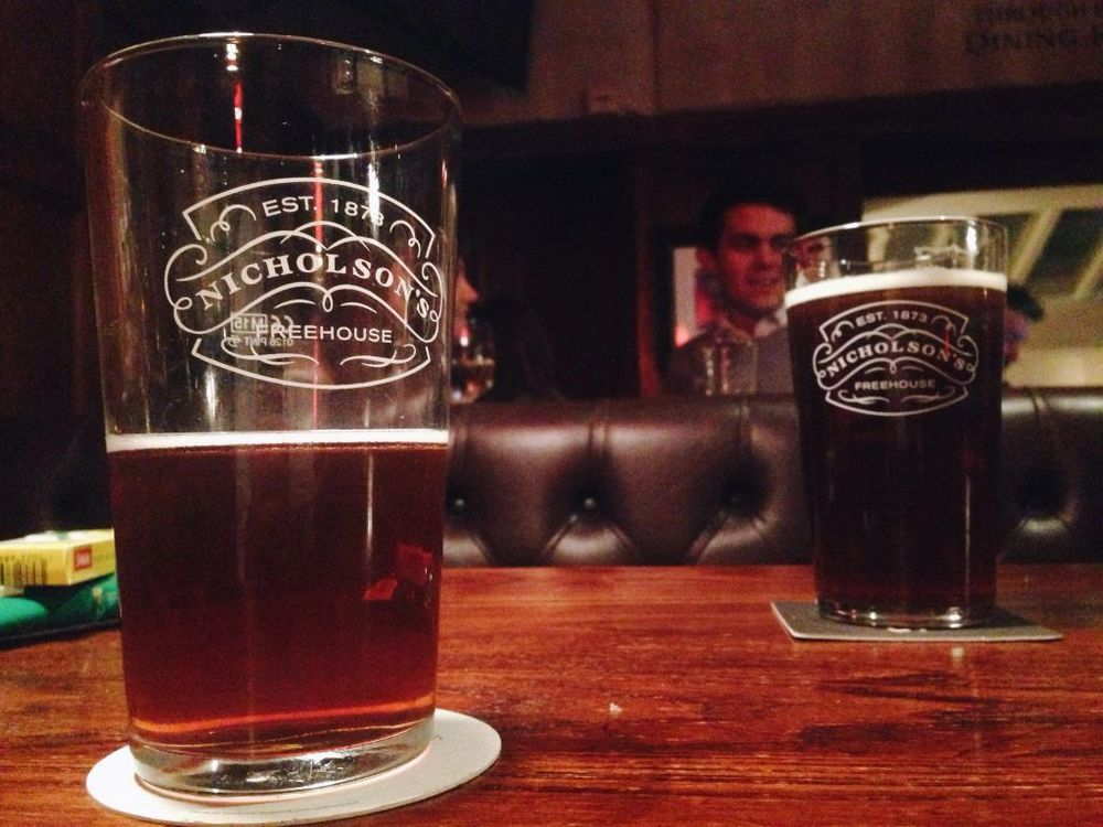 One of the many pints I consumed while in London.
