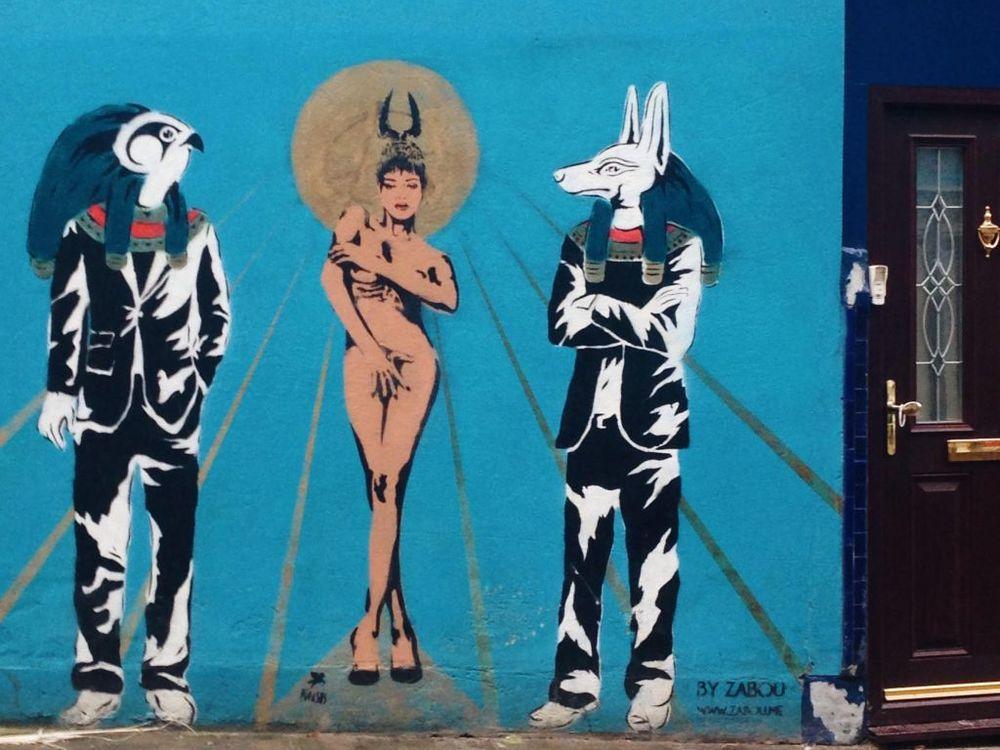 A mural of Rihanna I came across accidentally in Islington.