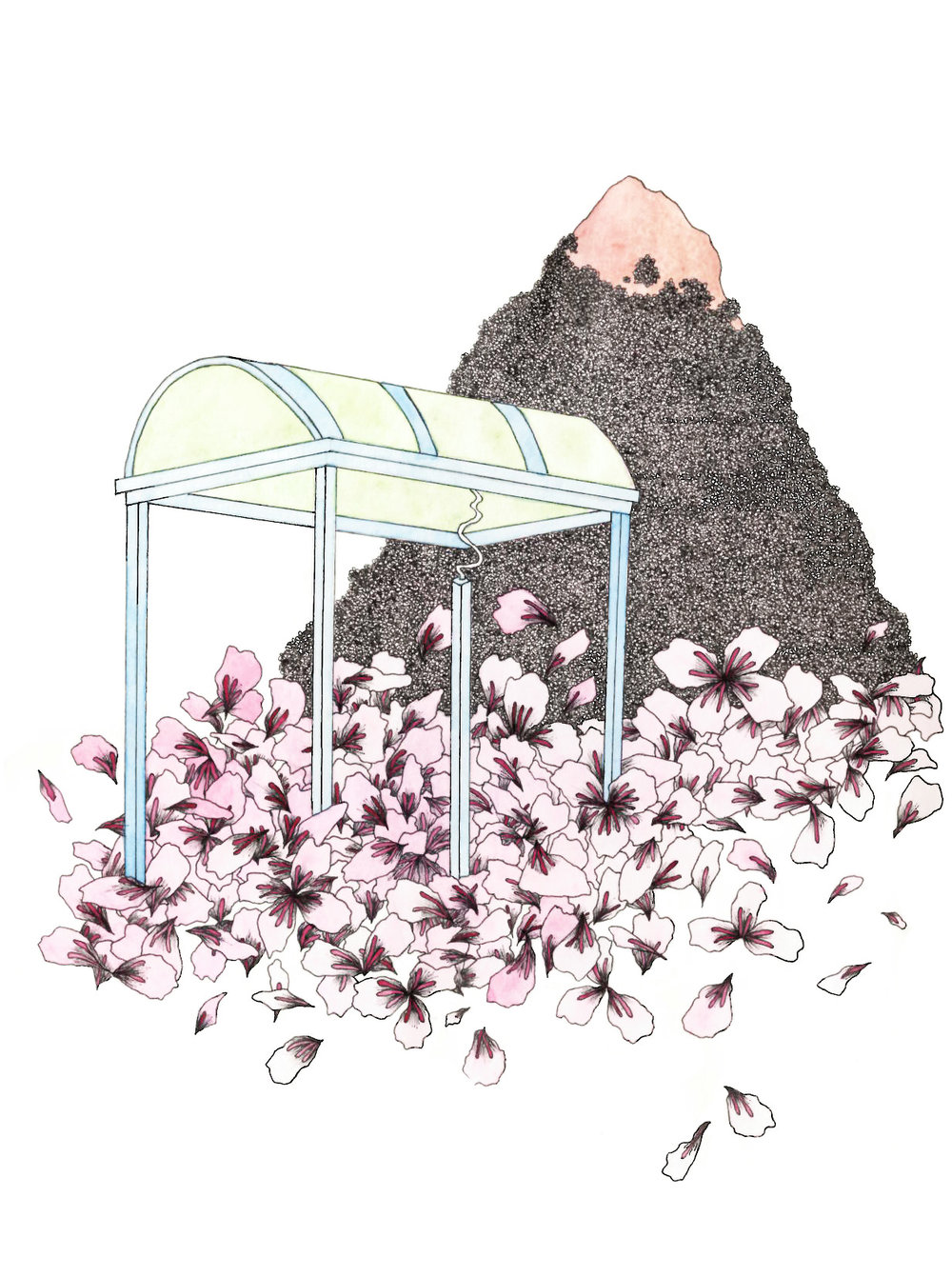 you've waited long enough to bloom, even the cherry blossom petals have fallen and flooded the bus station you're waiting at
