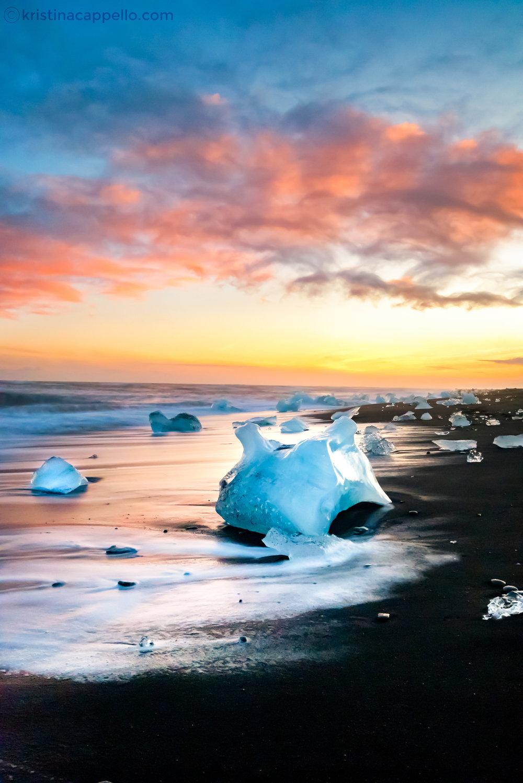 Diamond Beach,Jökulsárlón Iceland