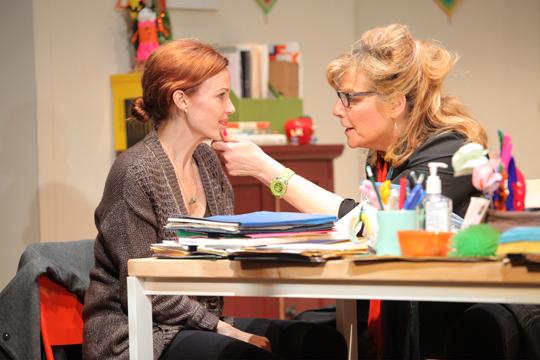 Carla Gugino and Caroline Aaron in  A Kid LIke Jake, LCT3
