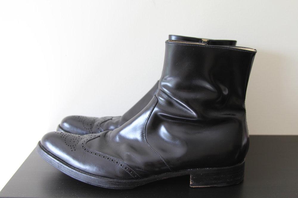 Helmut Lang Vintage Brogue Toe Ankle Boots