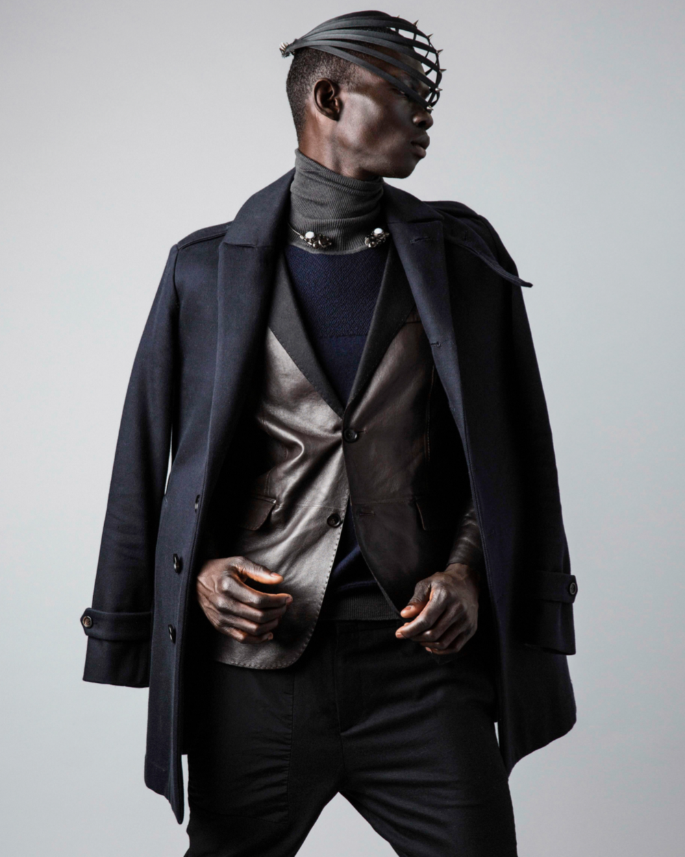 Fernando Cabral wears Burberry Prorsum AW 2010 Wool Coat